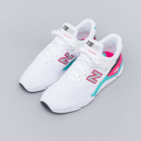 New Balance MSX90CRA in White/Teal - Notre