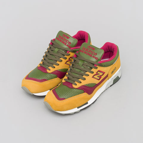 New Balance Made in the UK M1500TGB in Tan/Green/Burgundy - Notre