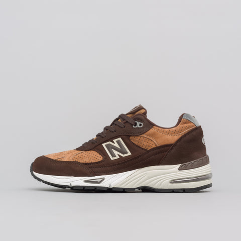 New Balance Made in the UK M991DBT in Dark Brown/Tan - Notre