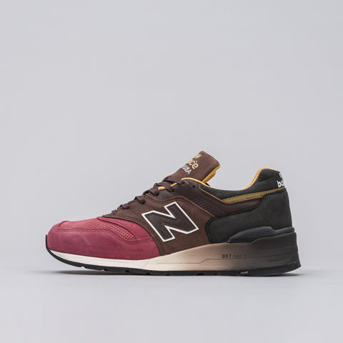 New Balance M997DWB in Black/Brown/Radish - Notre