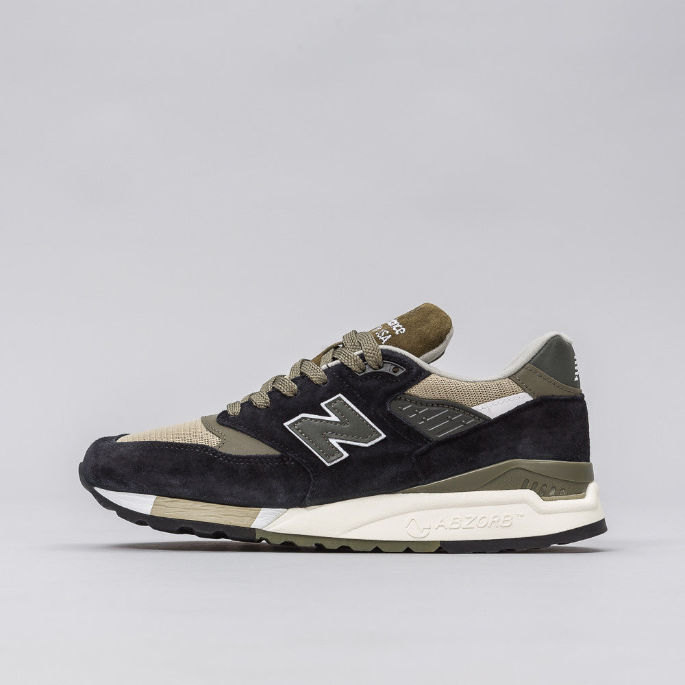 New Balance M998CTR in Black/Sage Notre 1