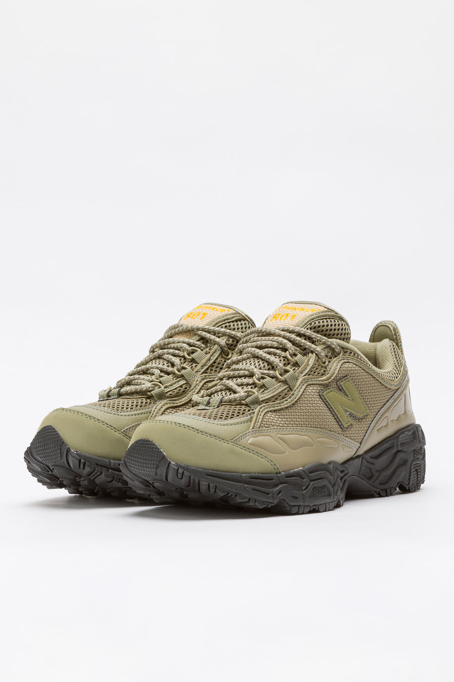 New Balance ML801BEB in Green/Black - Notre