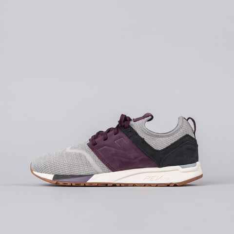 New Balance MRL247LM in Grey/Plum - Notre