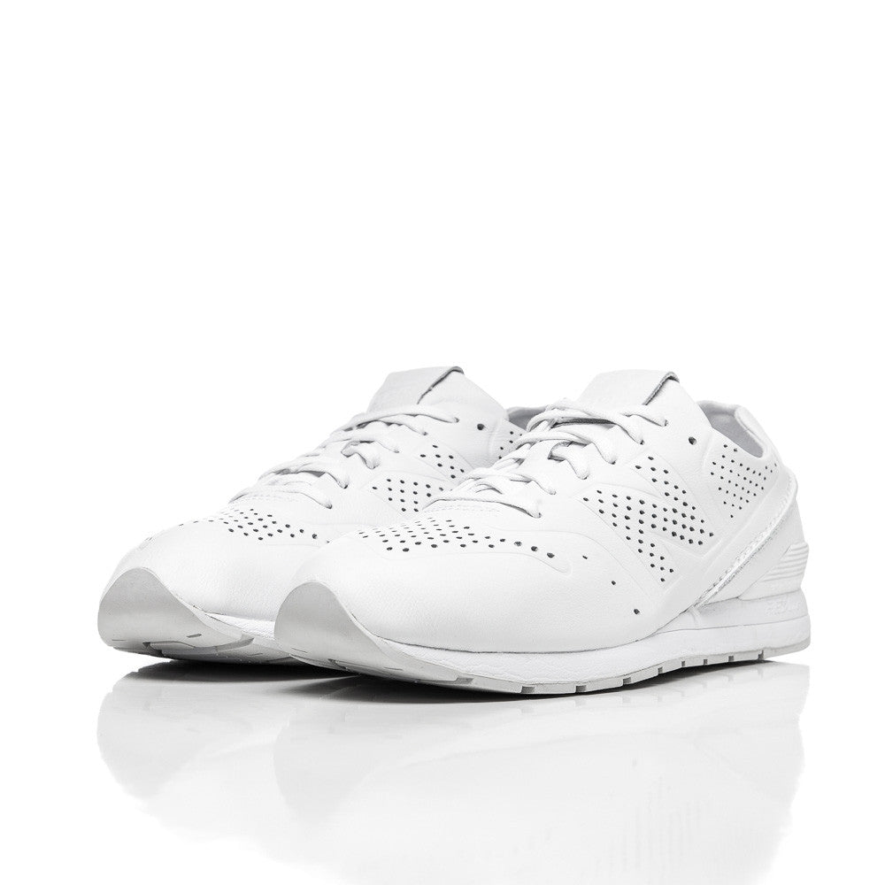New Balance MRL696 Deconstructed Leather in White Side View Studio Shot MRL696DT