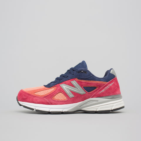 New Balance M990CP4 in Salmon/Navy - Notre