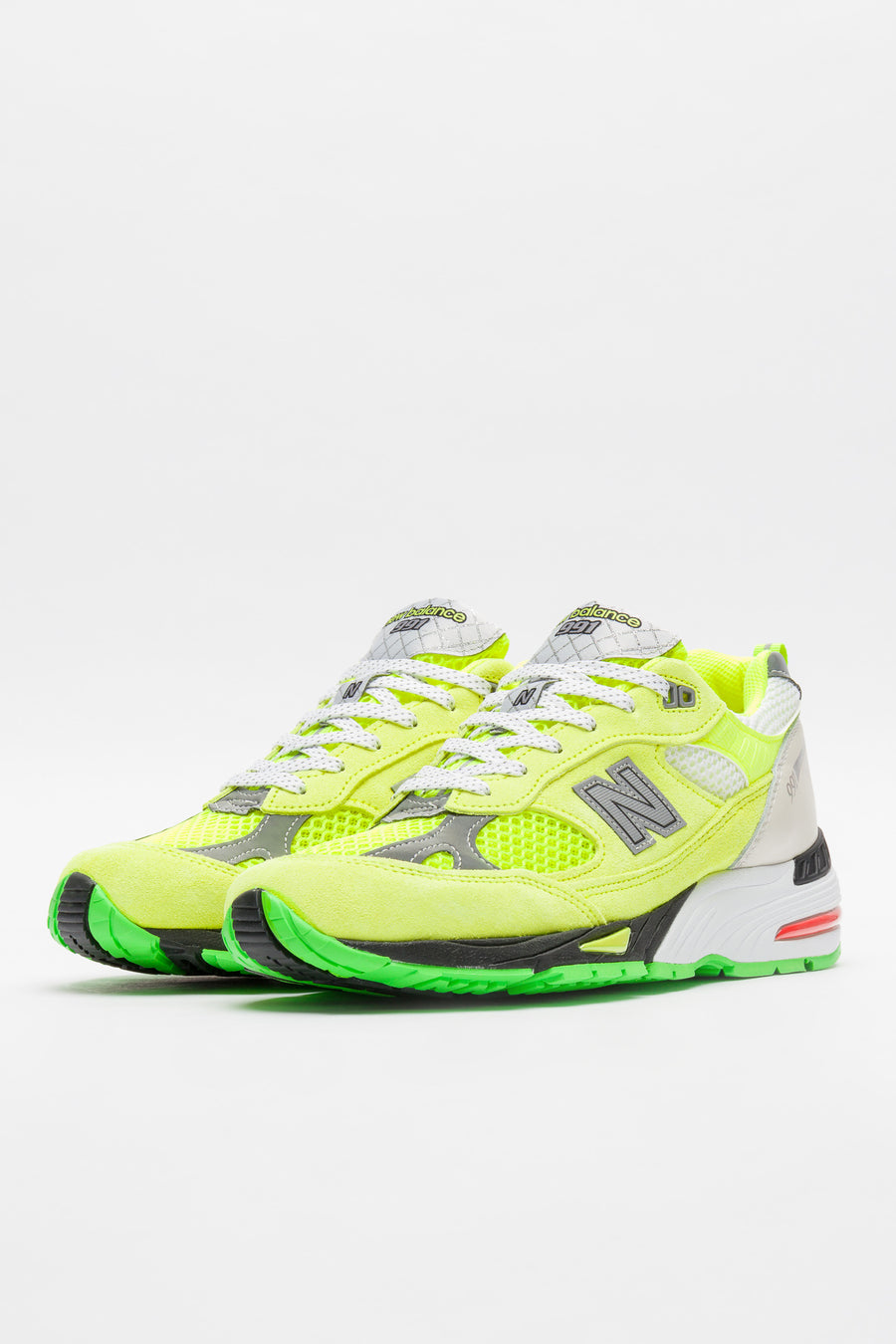 New Balance Aries M991AFL in Neon Yellow - Notre