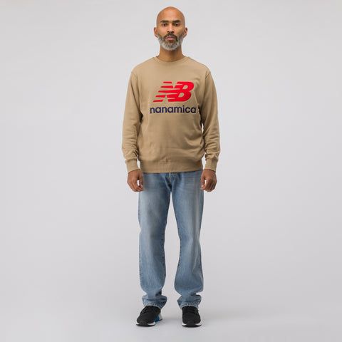 New Balance x nanamica COOLMAX® Crewneck Sweatshirt in Hemp - Notre