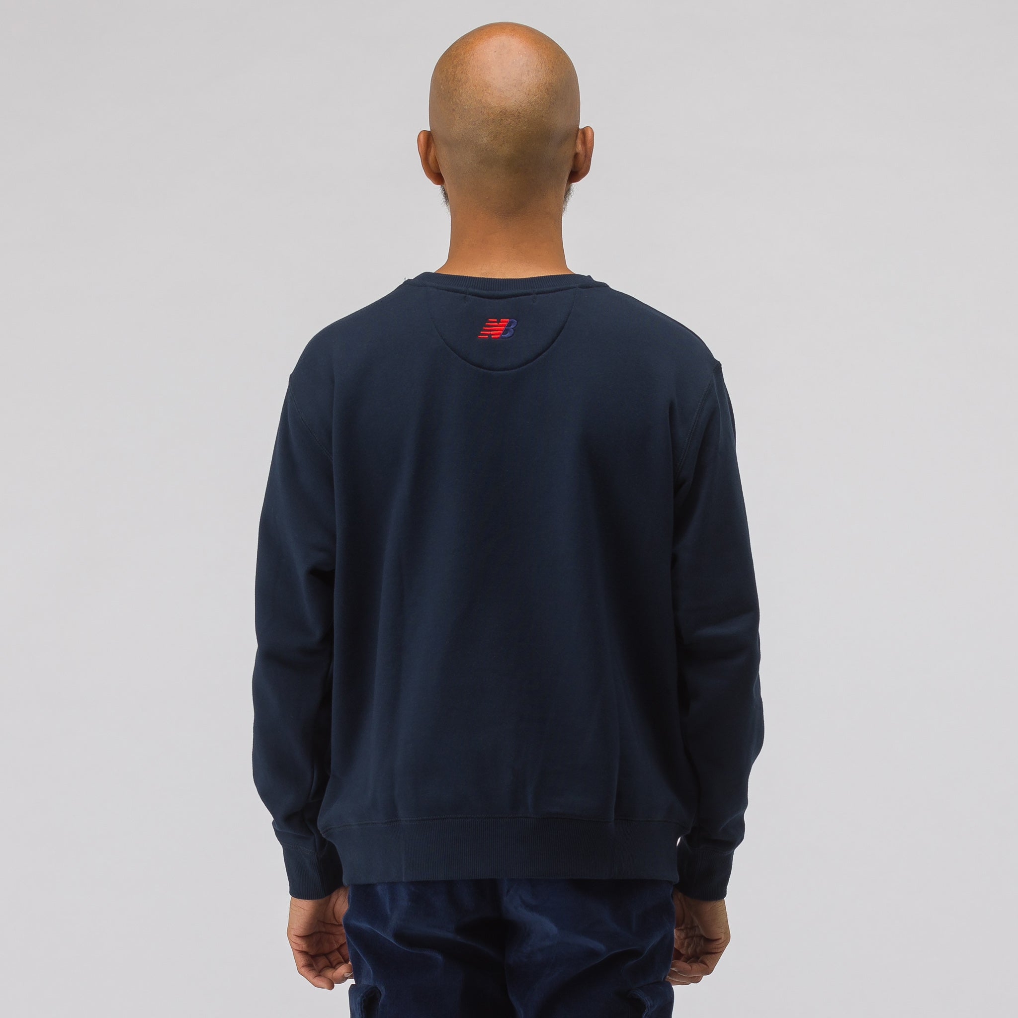 x nanamica COOLMAX® Crewneck Sweatshirt in Navy