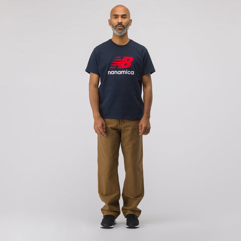 New Balance x nanamica COOLMAX® Short Sleeve T-Shirt in Navy - Notre