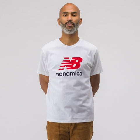 New Balance x nanamica COOLMAX® Short Sleeve T-Shirt in White - Notre