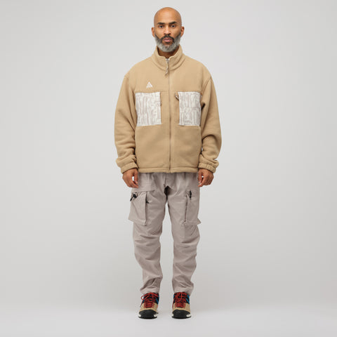 NikeLab ACG Fleece Jacket in Beige - Notre