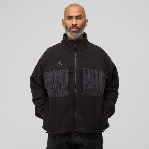 NikeLab ACG Fleece Jacket in Black/Anthracite - Notre