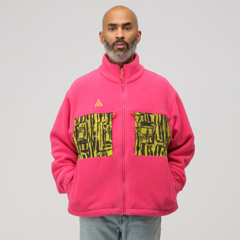 NikeLab ACG Fleece Jacket in Rush Pink - Notre