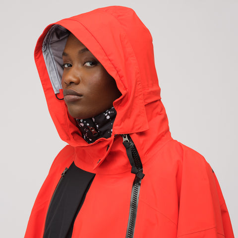 NikeLab ACG Women's 3-in-1 System Poncho in Habanero Red/Black - Notre