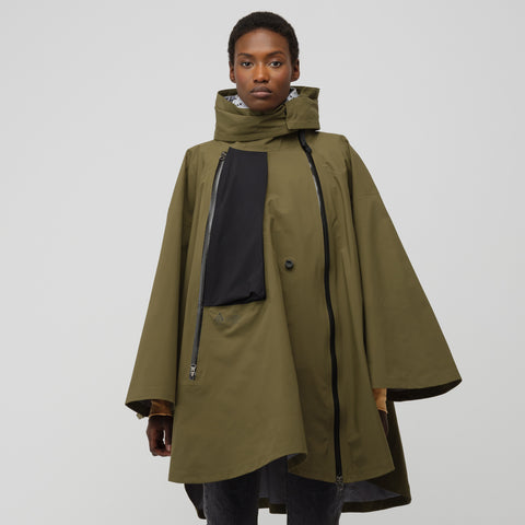 NikeLab ACG Women's 3-in-1 System Poncho in Olive Canvas/White - Notre