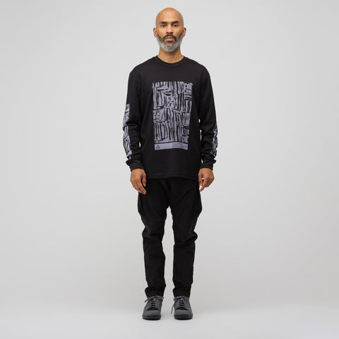 NikeLab Long Sleeve Graphic Top in Black - Notre