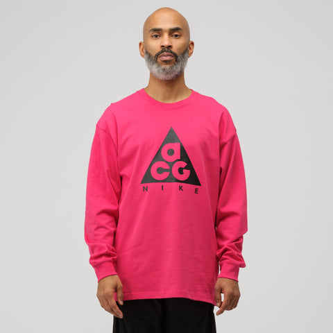 NikeLab ACG Long Sleeve T-Shirt in Rush Pink - Notre