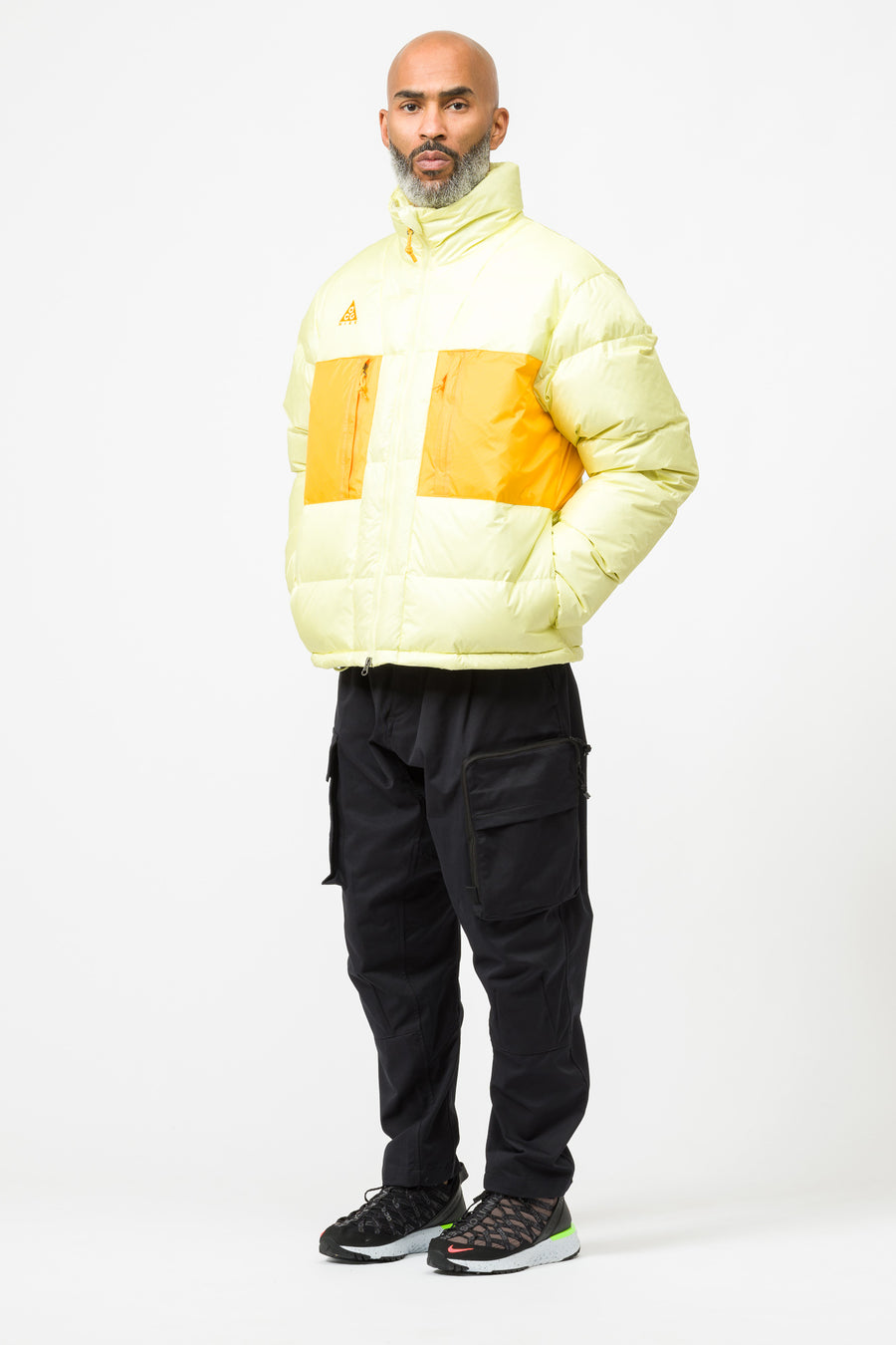 Nike ACG Down Fill Jacket in Yellow/Orange - Notre