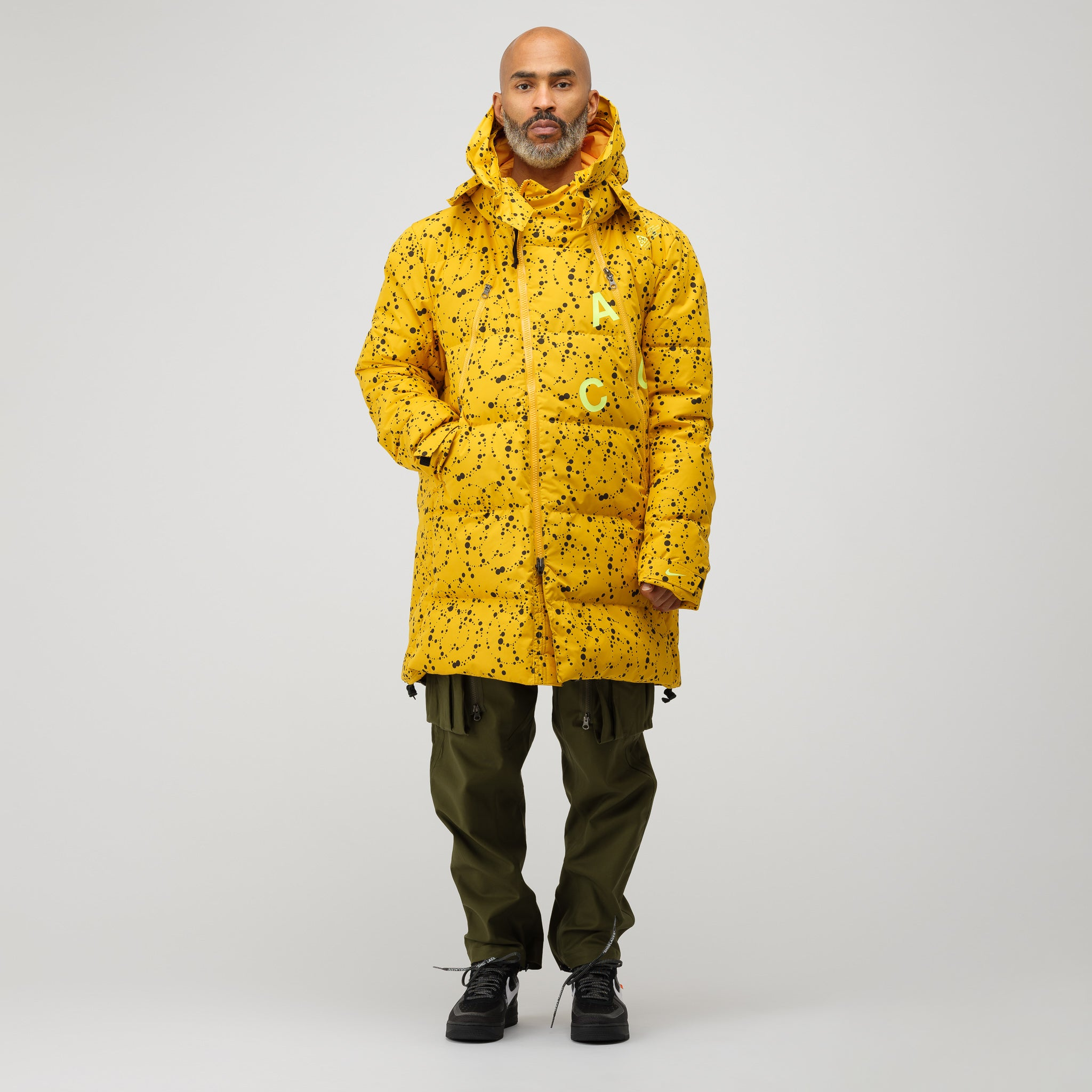 5028c6e6b9d9 NikeLab ACG Down Parka in Yellow Ochre