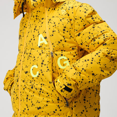 NikeLab ACG Down Parka in Yellow Ochre - Notre