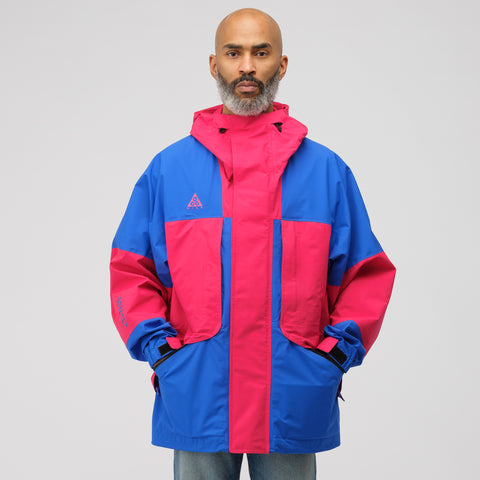 NikeLab ACG GoreTex Jacket in Pink/Royal Blue - Notre