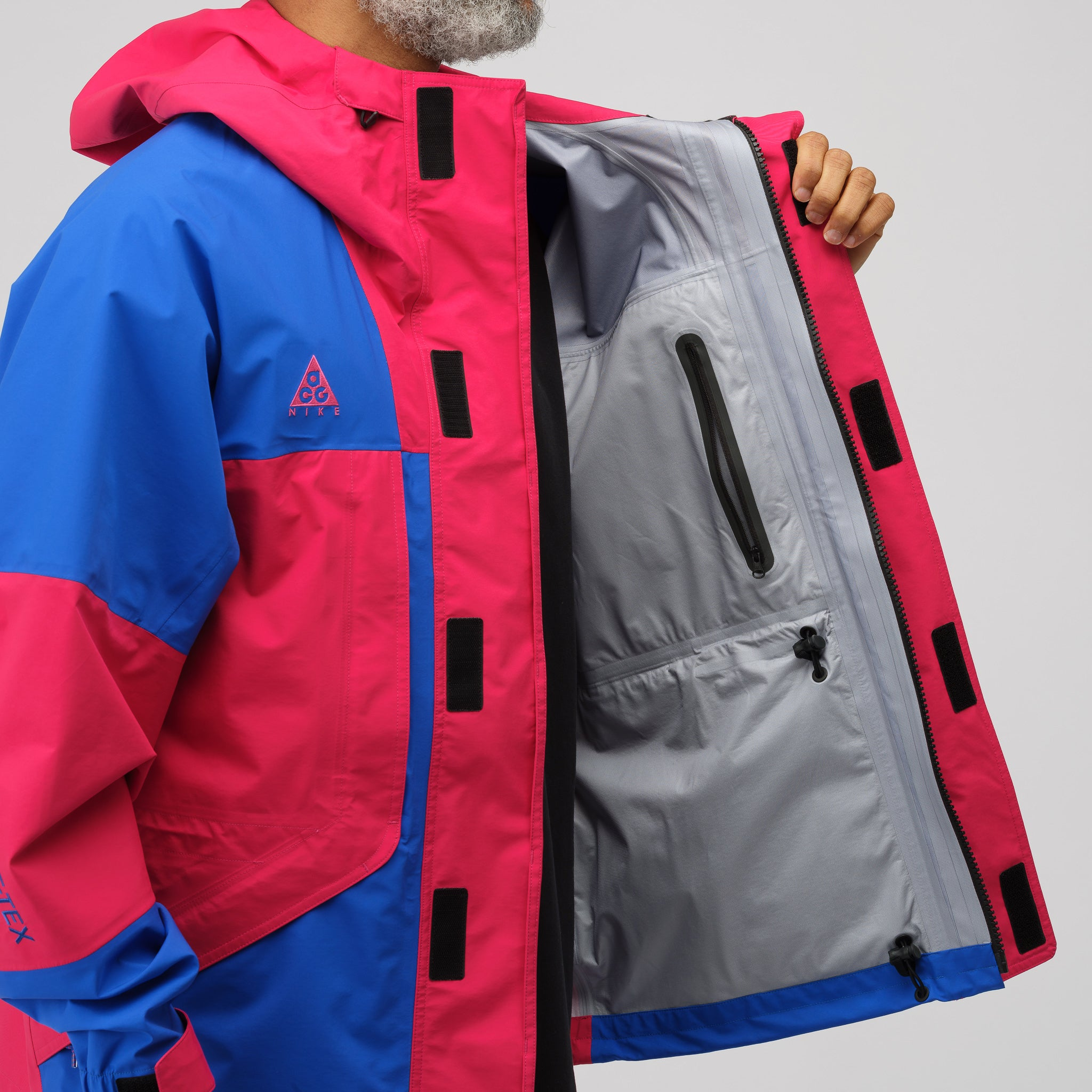 ACG GoreTex Jacket in Pink/Royal Blue