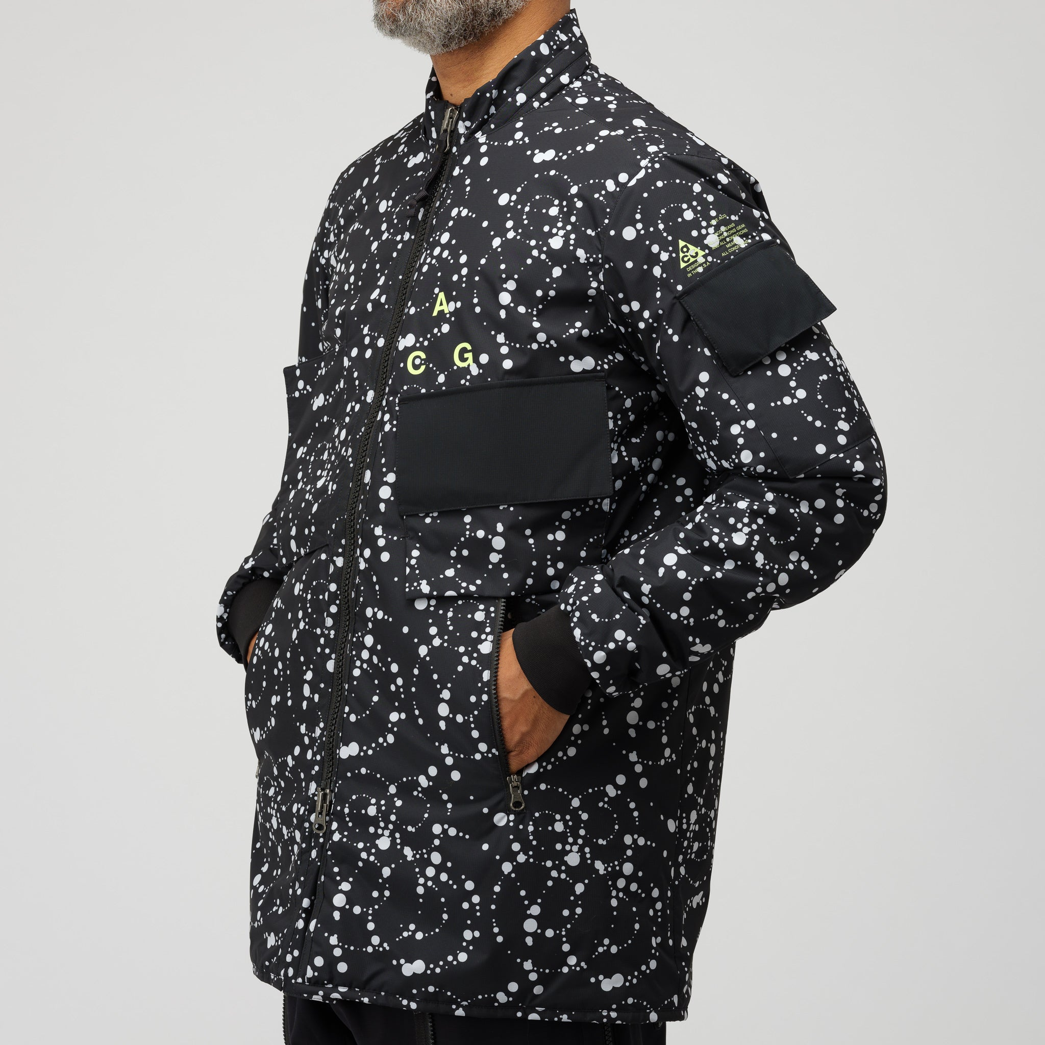 ACG Insulated Soft Shell Jacket in Black