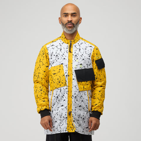 NikeLab ACG Insulated Soft Shell Jacket in White/Yellow Ochre - Notre