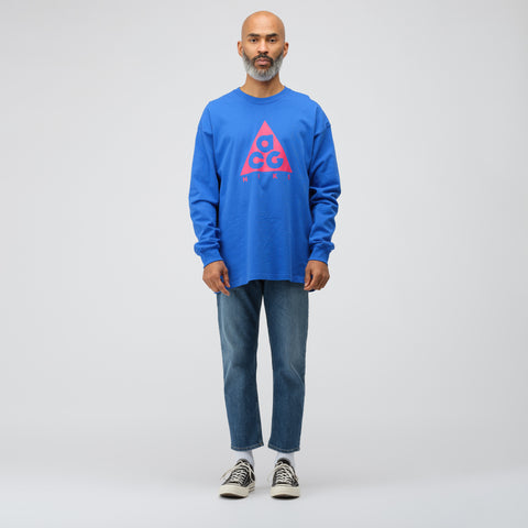 NikeLab ACG Long Sleeve Logo T-Shirt in Blue/Pink - Notre