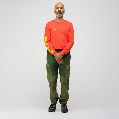 NikeLab ACG Long Sleeve T-Shirt in Habanero Red - Notre