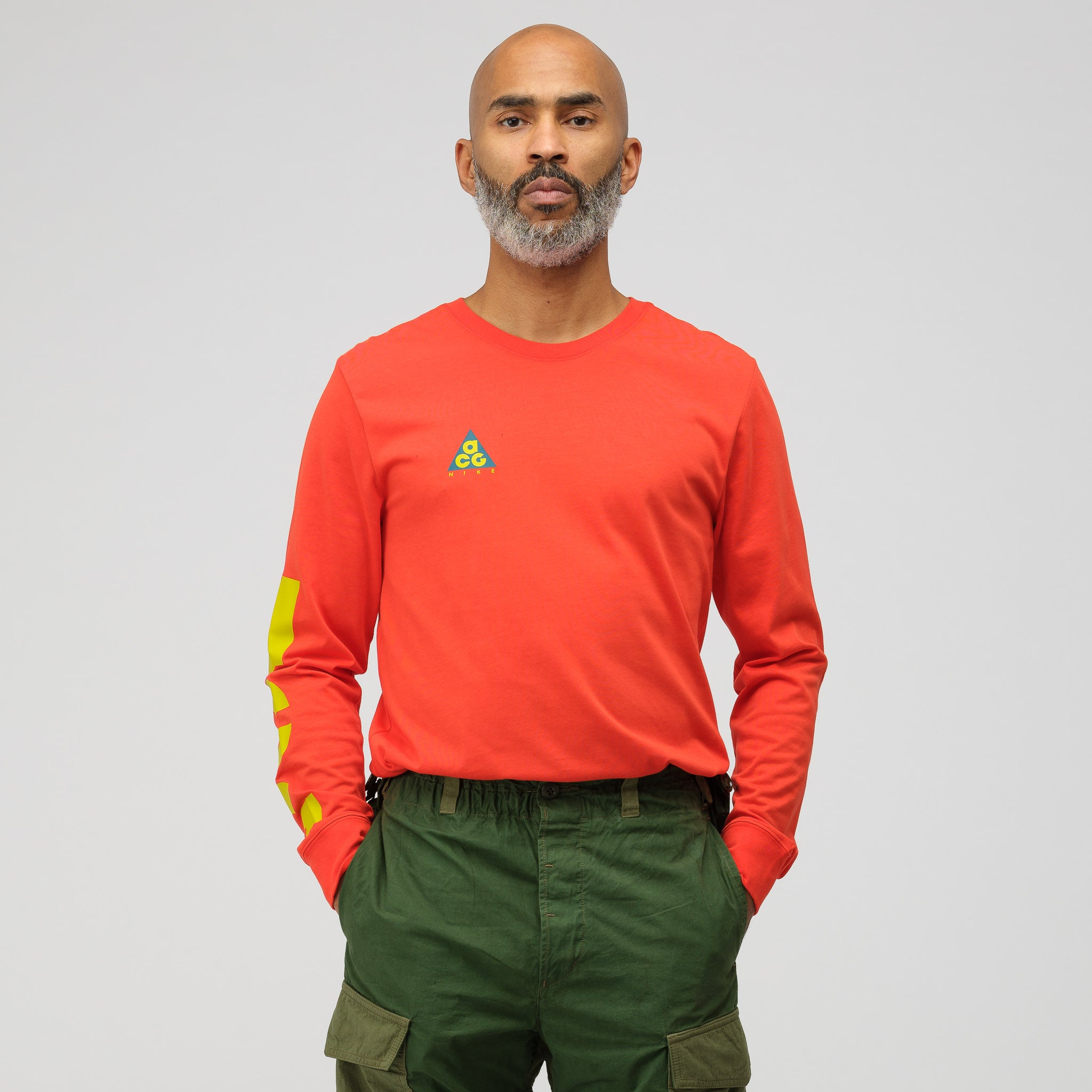 ACG Long Sleeve T-Shirt in Habanero Red