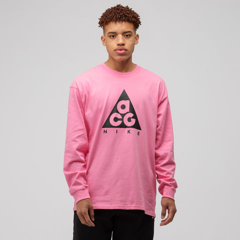 NikeLab ACG Long Sleeve T-Shirt in Lotus Pink/Black - Notre