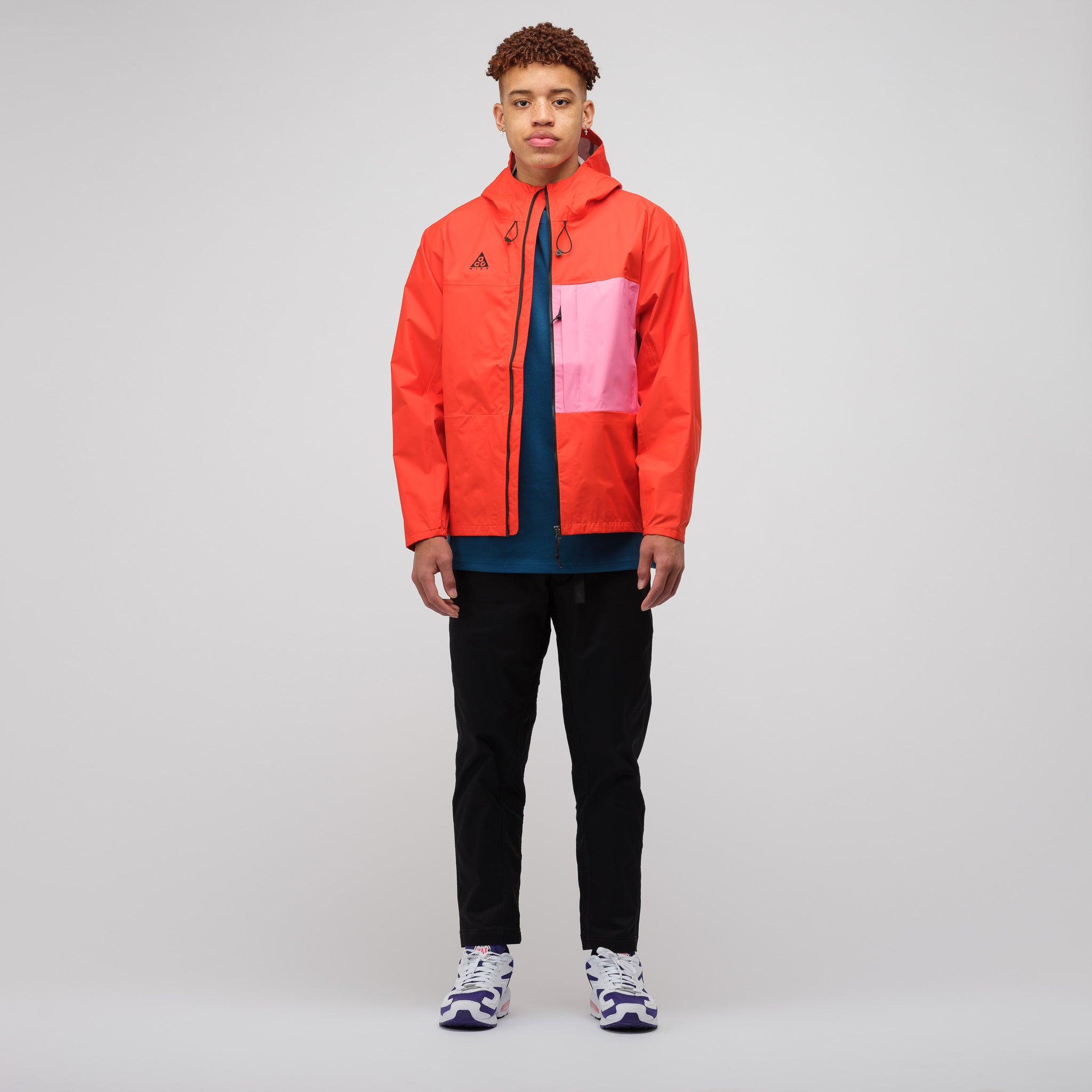 Packable Jacket in Habanero Red
