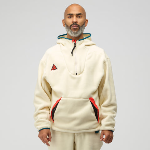 NikeLab ACG Sherpa Fleece Hoodie in Light Cream - Notre