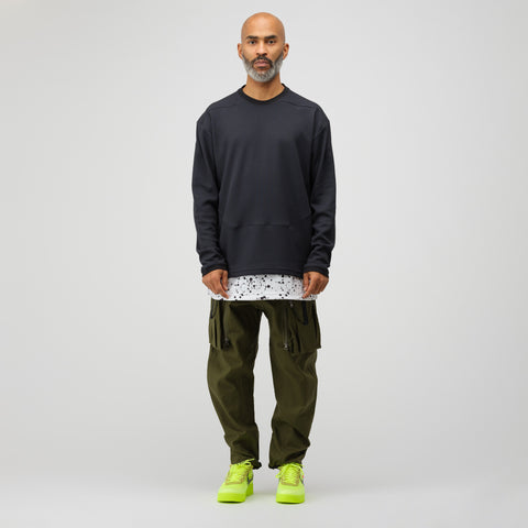 NikeLab ACG Waffle Knit Thermal Top in Black - Notre