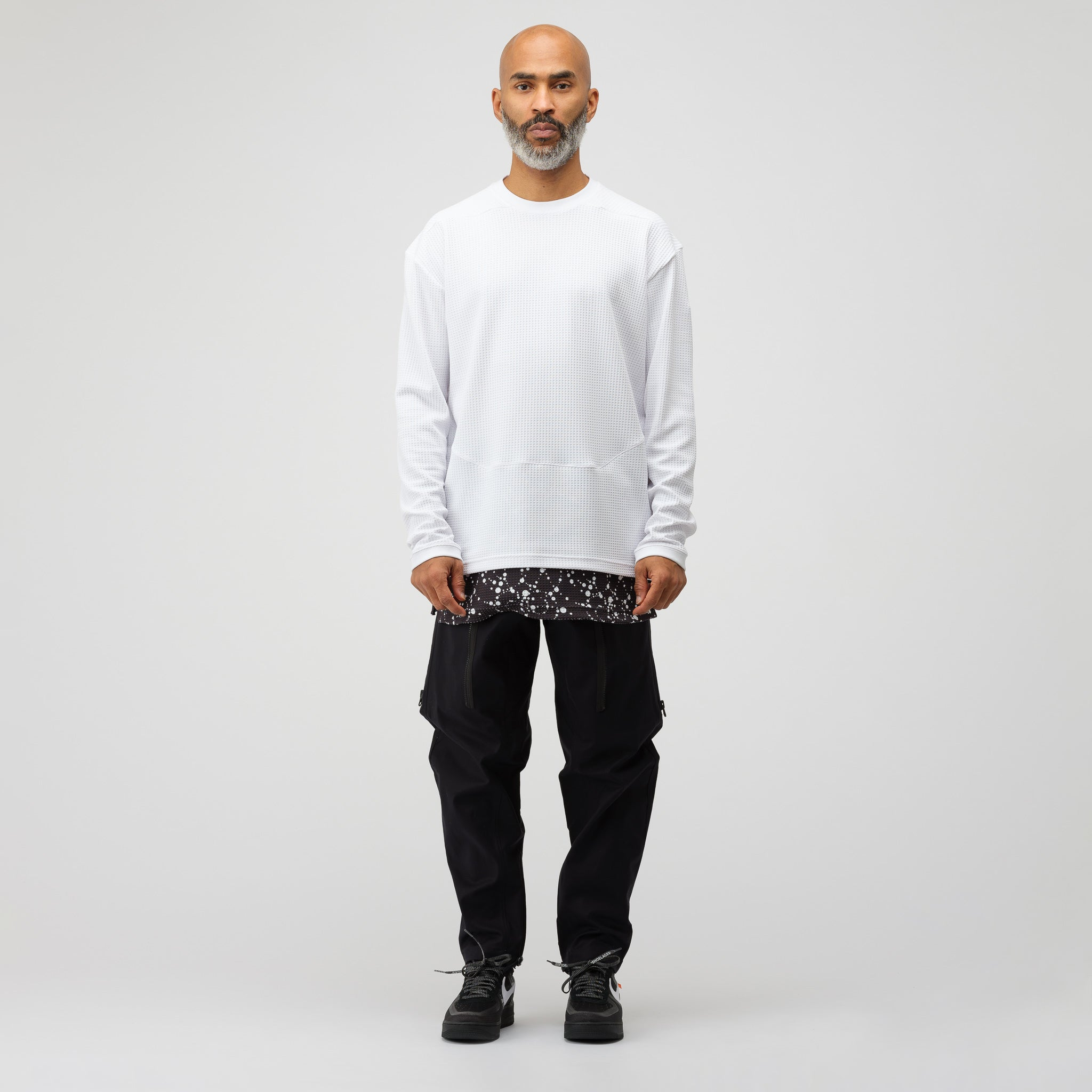 ACG Waffle Knit Thermal Top in White
