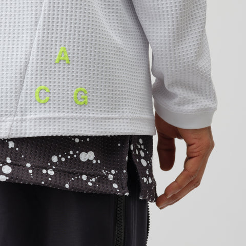 NikeLab ACG Waffle Knit Thermal Top in White - Notre