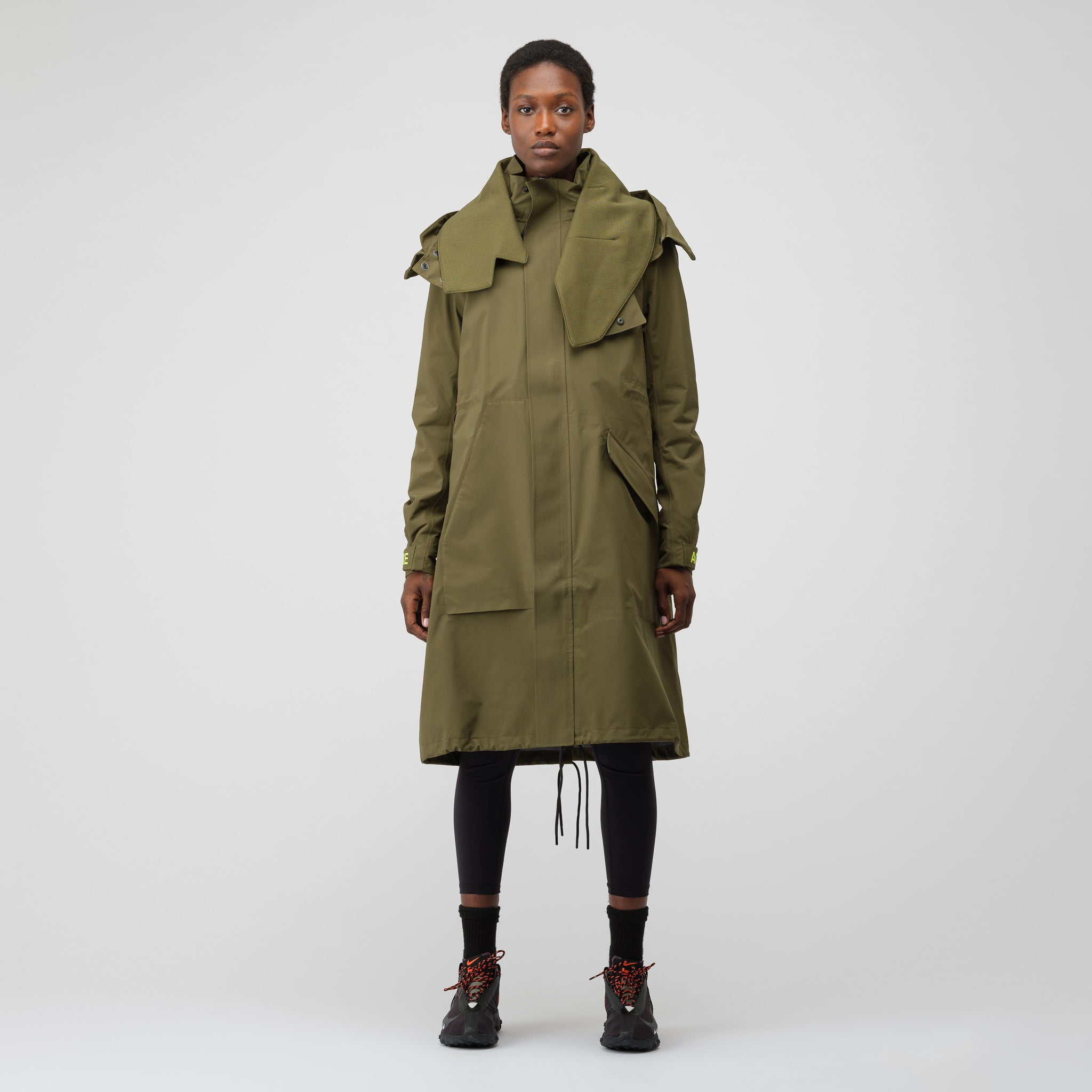 Women's GORE-TEX® Hard Shell Jacket in Olive Canvas