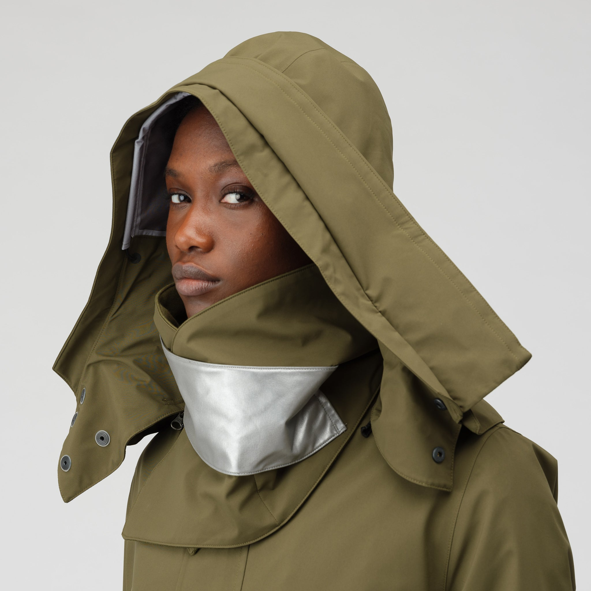 NikeLab Women s GORE-TEX® Hard Shell Jacket in Olive Canvas  6662e35a8f