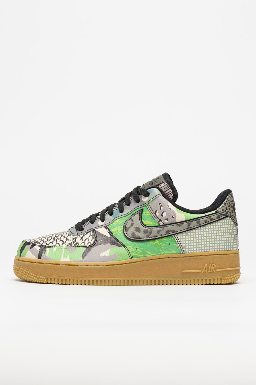 Air Force 1 07 QS in BlackGreen Spark