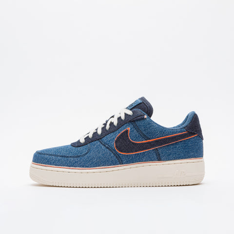 d822194699 Nike 3x1 Denim Air Force 1 '07 Premium in Stonewash Blue - Notre ...