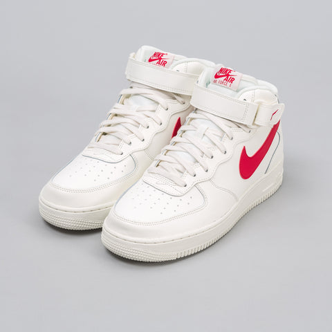 Nike Air Force 1 Mid '07 in Sail/Red - Notre