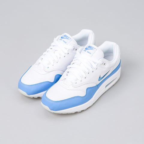 Nike Air Max 1 Premium SC in White/University Blue - Notre