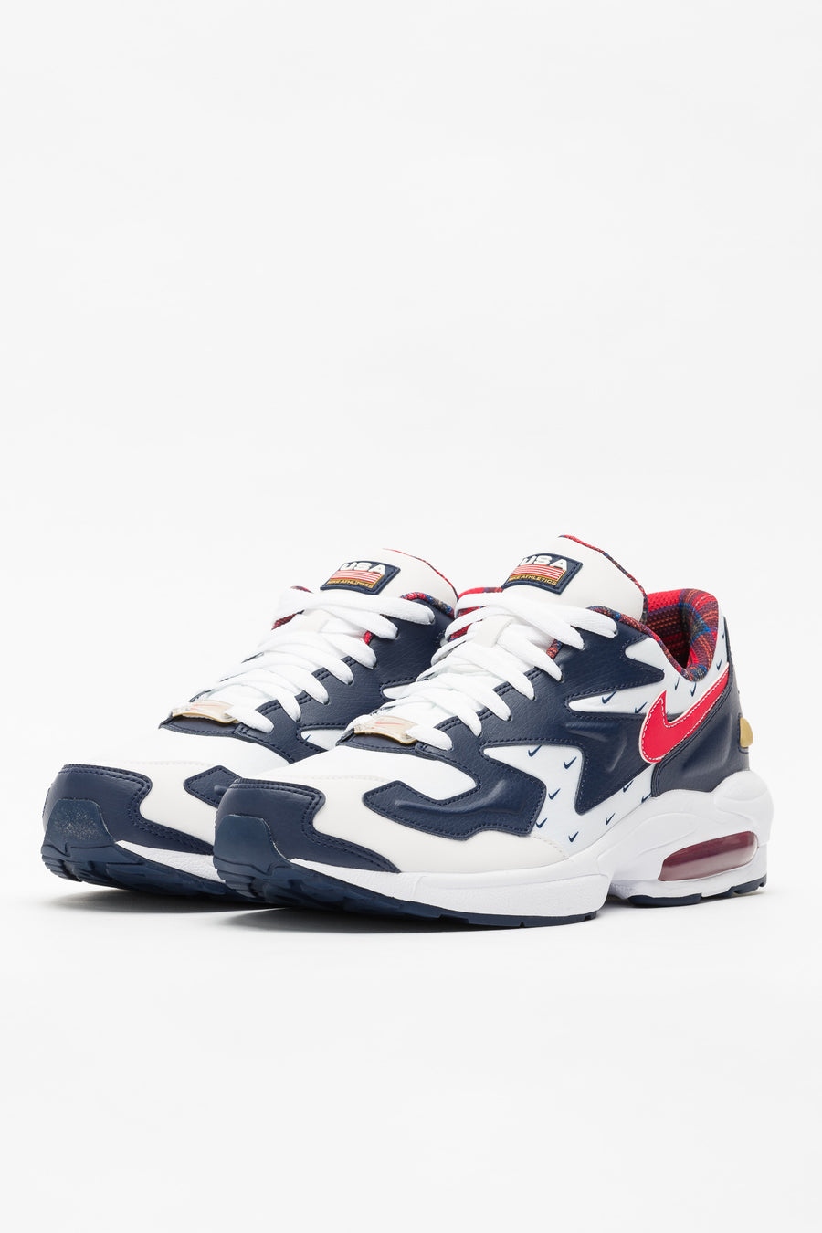 Nike Air Max2 Light in White/Red/Navy - Notre