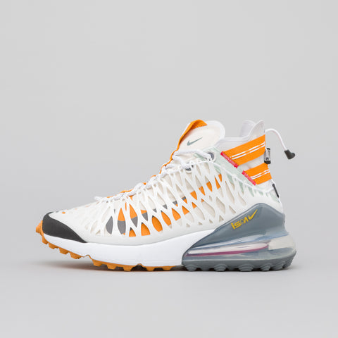Nike Air Max 270 ISPA in White/Amber - Notre