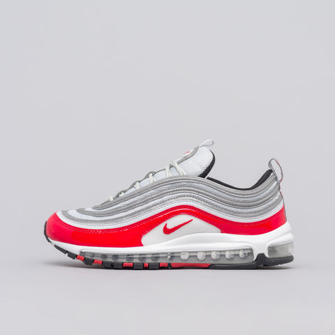 Nike Air Max 97 in Platinum/Red - Notre