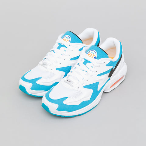 Nike Air Max2 Light in White/Blue Lagoon - Notre