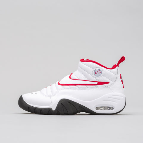 Nike Air Shake Ndestrukt in White/Red - Notre