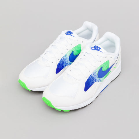 Nike Air Skylon II in White/Blue/Green - Notre