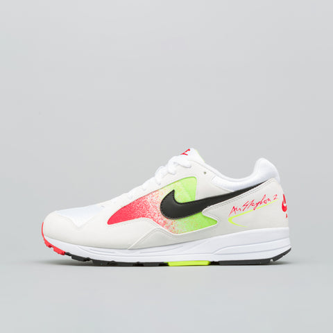 Nike Air Skylon II in White/Volt/Red - Notre